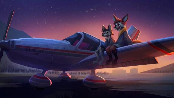Tani & Nightfox by Jacato